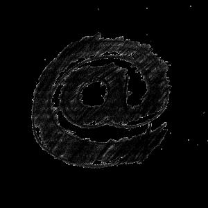 黒い色のアットマーク