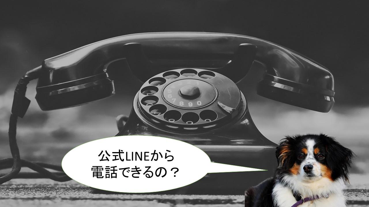 公式LINEから電話できるの?