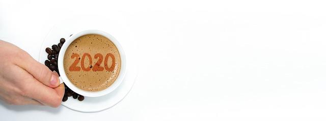 2020年を描くコーヒー